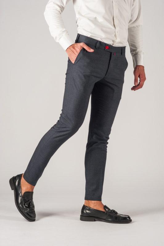 Серые мужские брюки зауженного кроя. Арт.:6-775-3