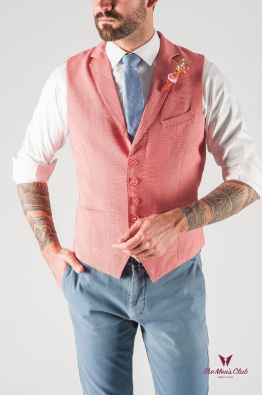 Мужской жилет в розовом цвете. Арт.:3-801-3