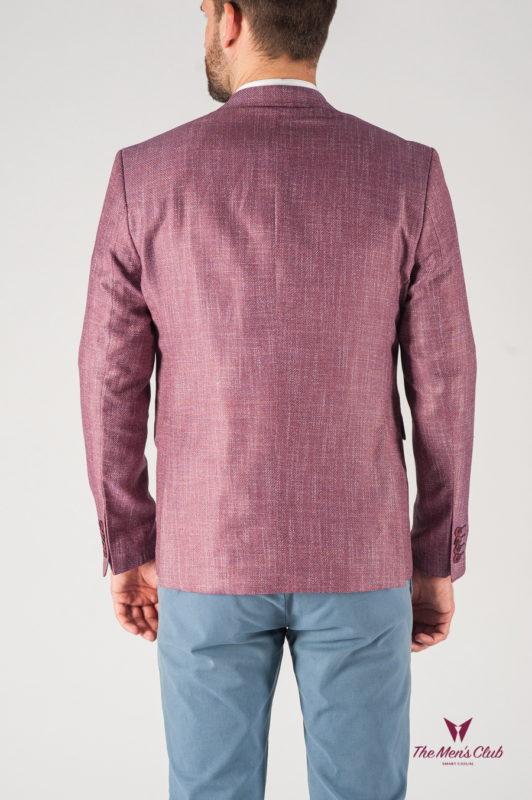 Приталенный мужской пиджак лилового цвета. Арт.:2-802-22