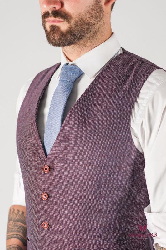 Мужской жилет лилового цвета. Арт.:3-805-2