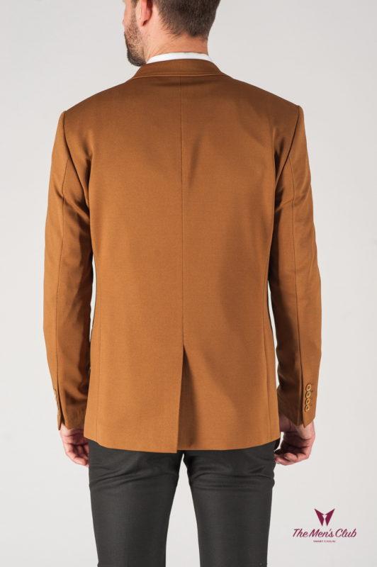 Мужской кэжуал пиджак горчичного цвета. Арт.:2-813-9