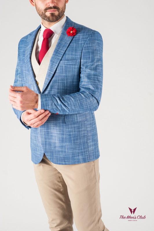 Голубой мужской пиджак. Арт.:2-814-22