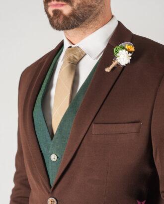 Мужской блейзер коричневого цвета. Арт.:2-815-1