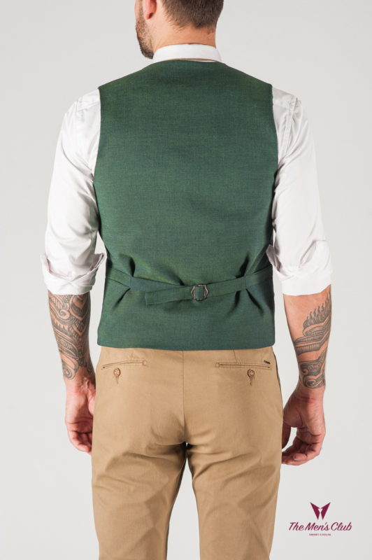 Классическая мужская жилетка зеленого цвета. Арт.:3-815-2