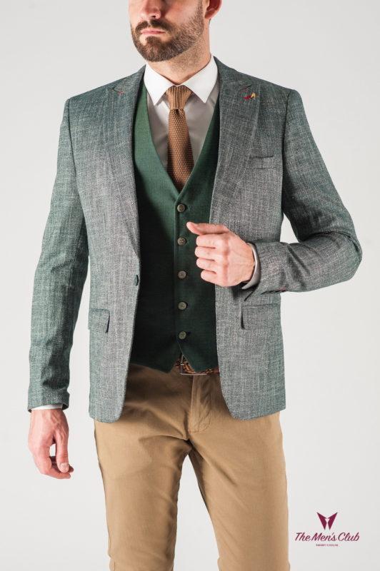 Зеленый мужской пиджак. Арт.:2-816-22