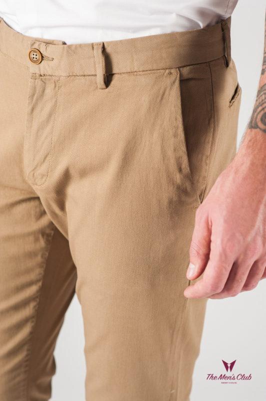 Бежевые мужские брюки без стрелок. Арт.:6-817-2