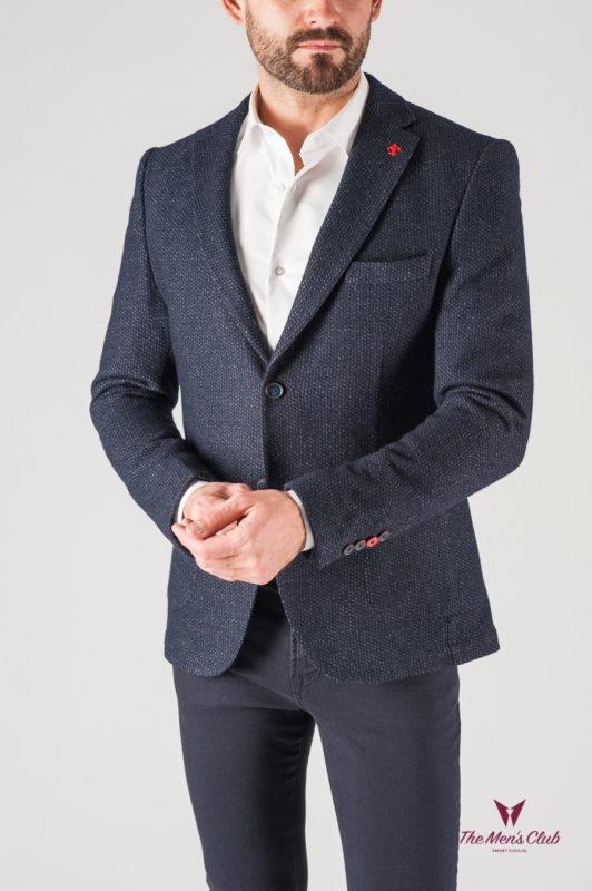 Шерстяной мужской пиджак серого цвета. Арт.:2-819-3