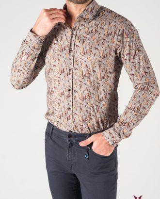 e039e1cf0081377 Принтованная мужская рубашка серого цвета. Арт.:5-820-8 ...
