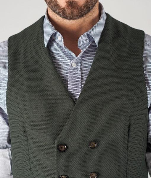 Мужской жилет зеленого цвета. Арт.:3-821-3