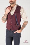 Мужская жилетка бордового цвета. Арт.:3-822-3