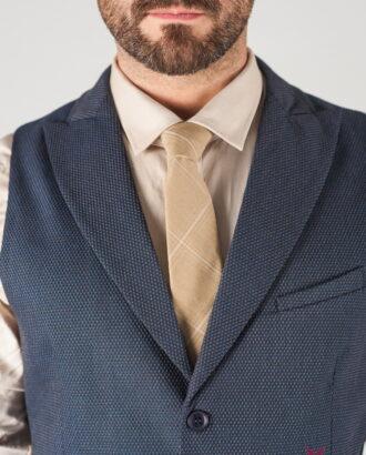 Синий мужской жилет с лацканами. Арт.:3-823-3