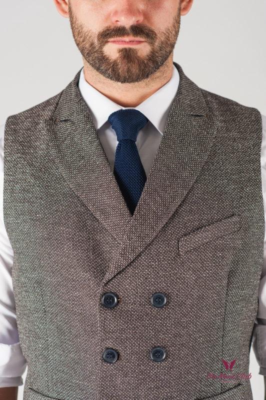Мужской коричневый жилет. Арт.:3-825-3