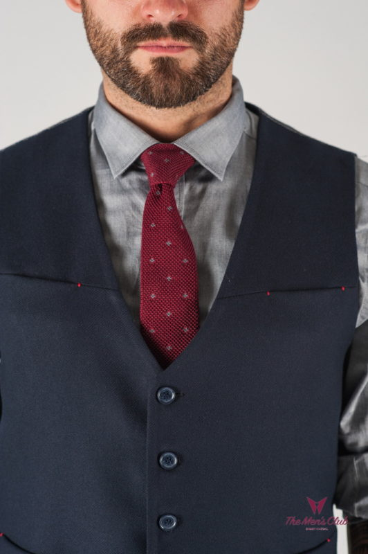 Базовый мужской жилет синего цвета. Арт.:3-827-3