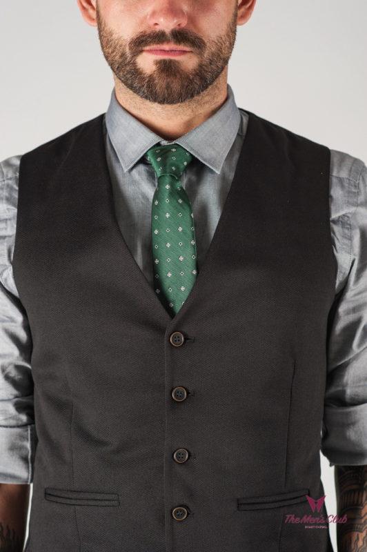 Классический мужской жилет черного цвета. Арт.:3-828-2