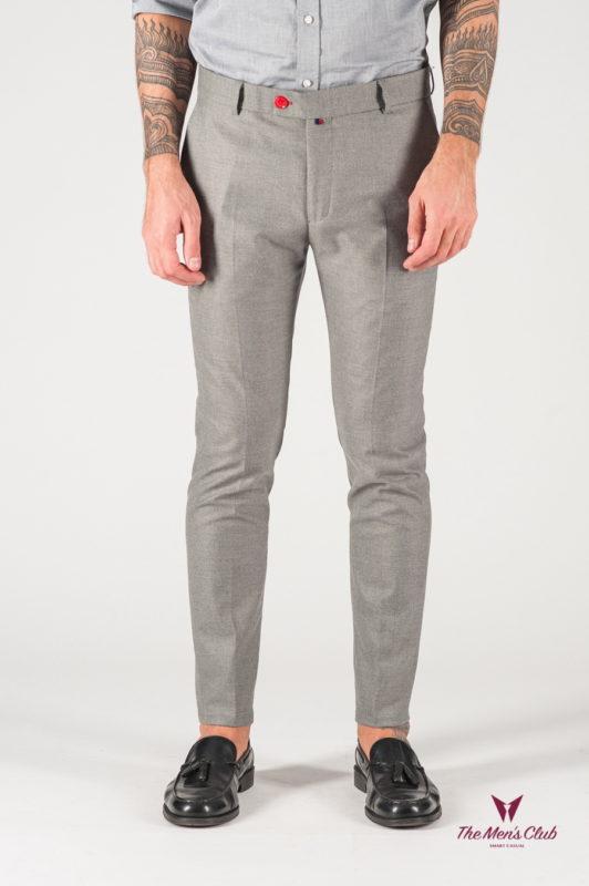 Серые укороченные мужские брюки. Арт.:6-828-3