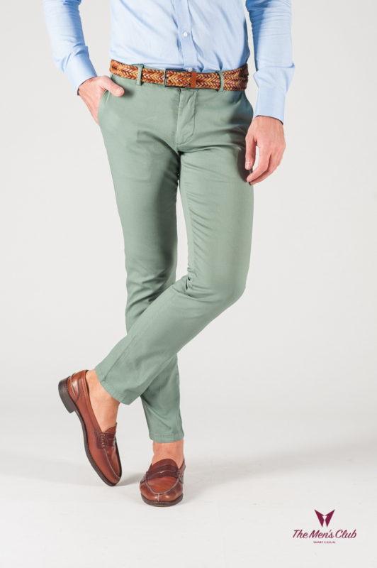 Мужские брюки зеленого цвета. Арт.:6-829-2