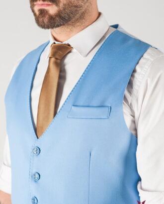 Комплект из жилетки и брюк голубого цвета. Арт.:4-830-3