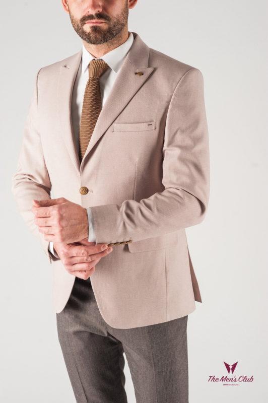 Мужской пиджак бежевого цвета. Арт.:2-832-2