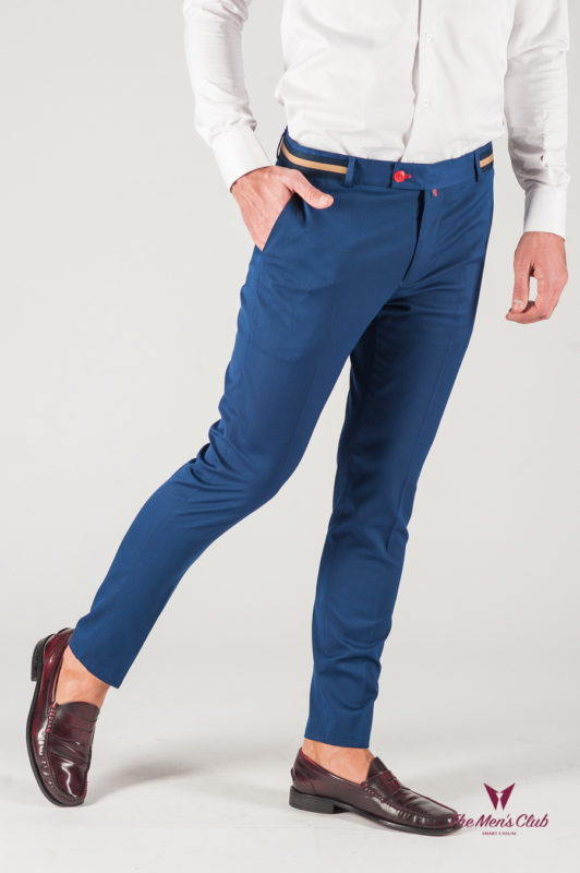 Синие мужские брюки со стрелками. Арт.:6-833-3