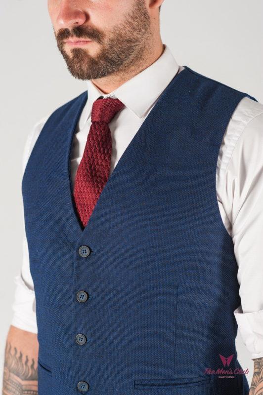 Синий мужской классический жилет. Арт.:3-835-2