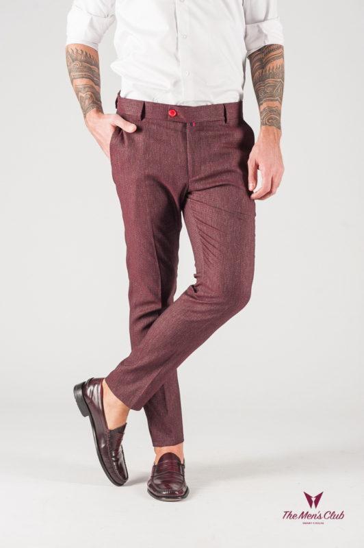 Бордовые мужские брюки. Арт.:6-836-3