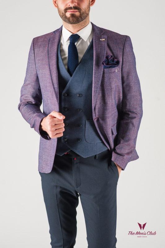 Мужской пиджак фиолетового оттенка. Арт.:2-838-22