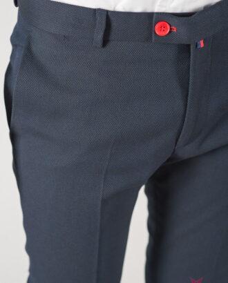 Мужские укороченные брюки синего цвета. Арт.:6-838-3