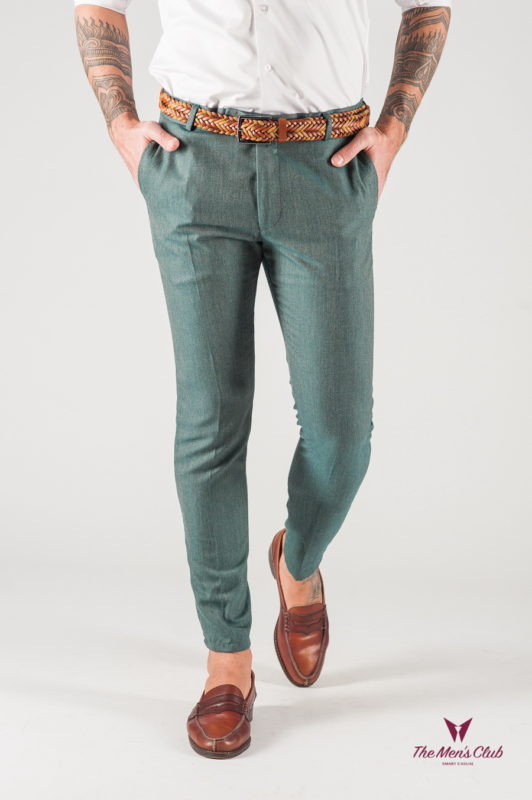 Мужские зеленые брюки со стрелками. Арт.:6-841-3