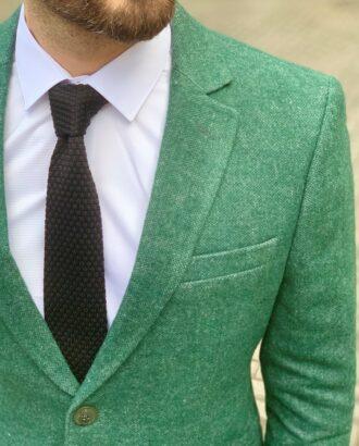 Мужское зеленое пальто. Арт.: 1-929-3