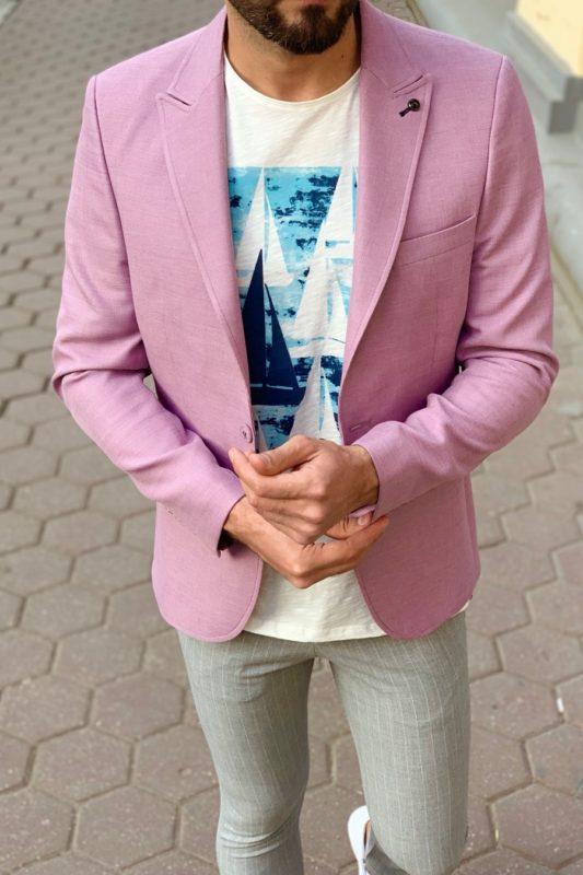 Лиловый мужской пиджак. Арт.: 2-911-5