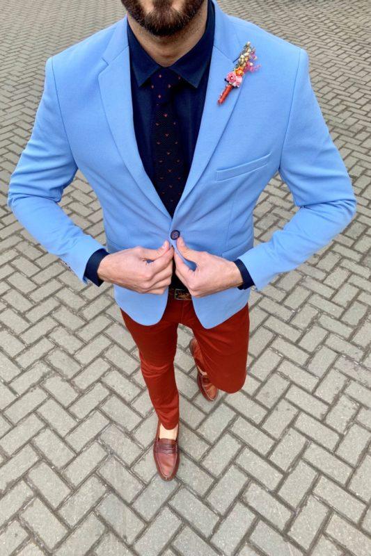 Мужской голубой пиджак. Арт.:2-931-1