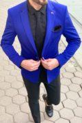 Мужской голубой пиджак. Арт.: 2-931-1