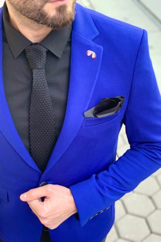 Мужской пиджак ярко-синего цвета. Арт.: 2-913-1
