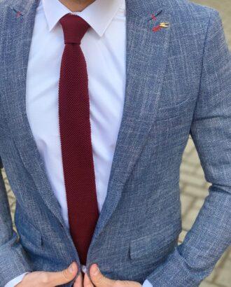 Синий мужской пиджак приталенного кроя. Арт.: 2-918-22