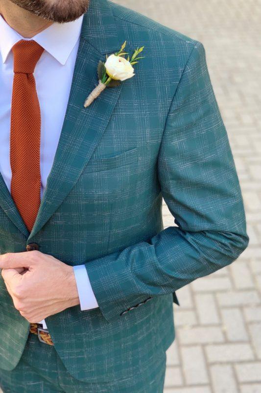 Мужской зеленый костюм-двойка. Арт.: 4-932-2