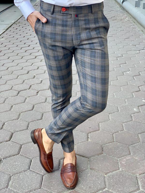 Мужские брюки в крупную клетку. Арт.:6-941-3