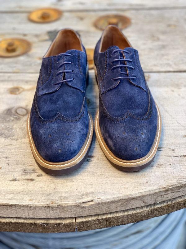 Замшевые броги синего цвета. Арт.:14-907