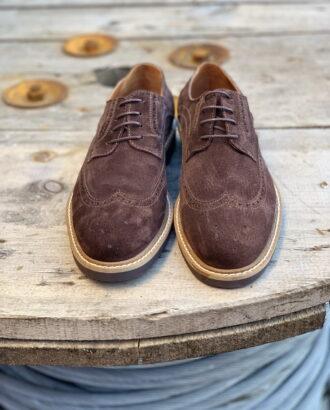 Мужские броги коричневого цвета. Арт.:14-905
