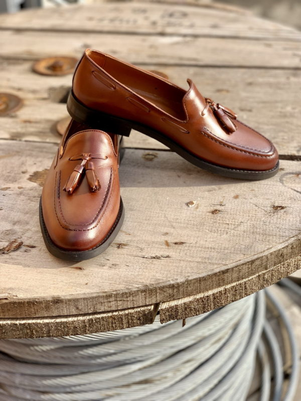 Мужские лоферы коричневого цвета. Арт.:14-910