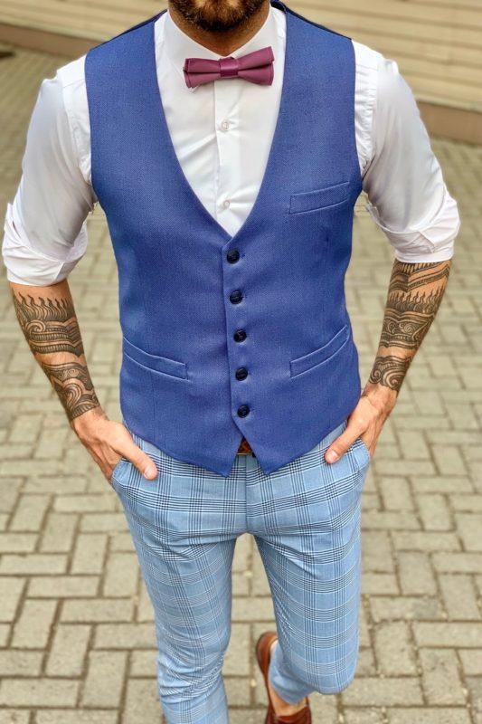 Синяя мужская жилетка. Арт.:3-960-3