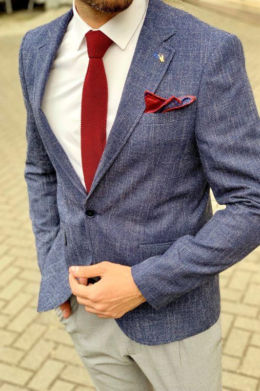 Мужской пиджак под джинсы синего цвета. Арт.:2-962-22
