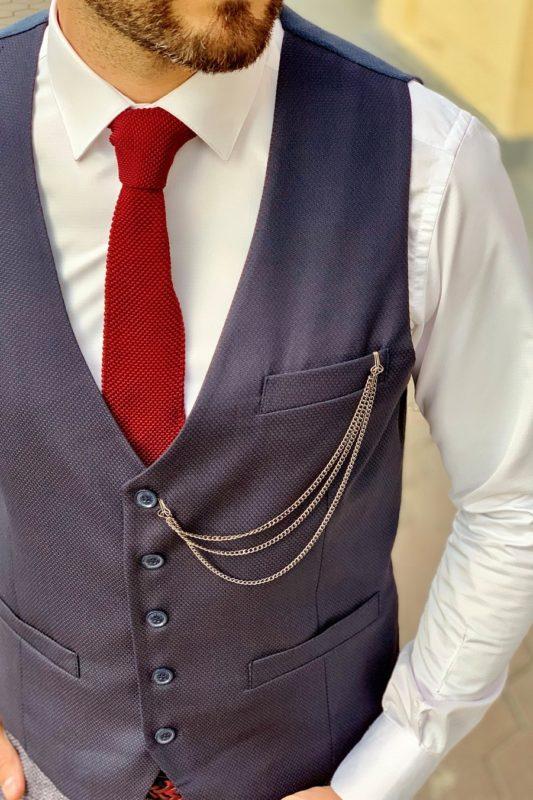 Классическая мужская жилетка в синем оттенке. Арт.:3-969-3