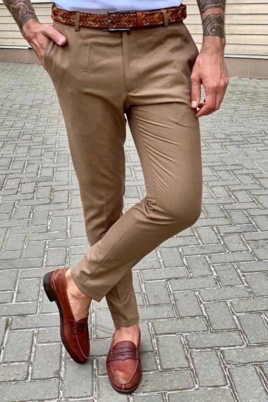 Мужские брюки коричневого цвета. Арт.:6-950-3