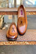 Бельгийские лоферы коричневого цвета. Арт.:14-913