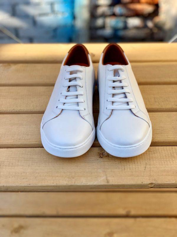 Белые мужские кеды. Арт.:14-914