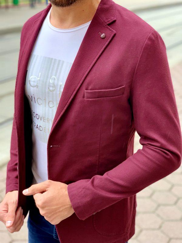 Кэжуал пиджак цвета бордо. Арт.:2-1010-29