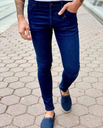 Мужские джинсы синего цвета. Арт.:7-1010