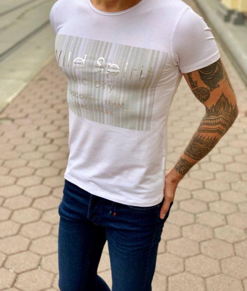 Белая футболка с рисунком. Арт.:16-002