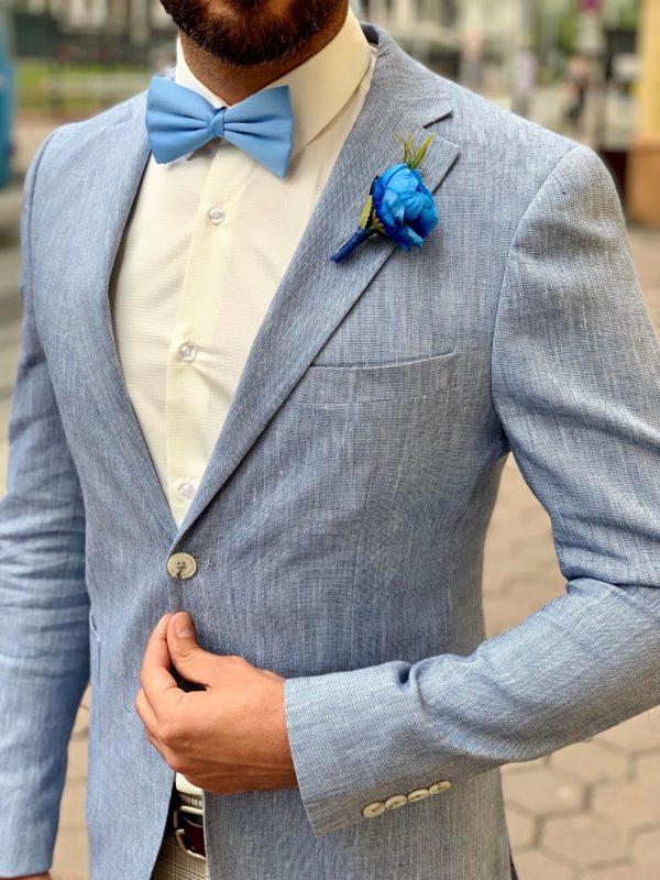 Мужской пиджак голубого цвета. Арт.:2-1012-3