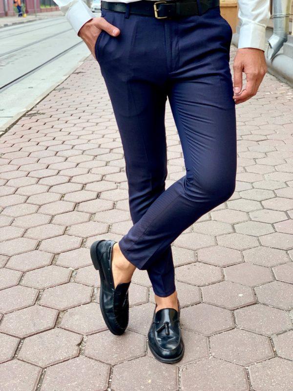 Молодежные брюки синего цвета. Арт.:6-1013-3